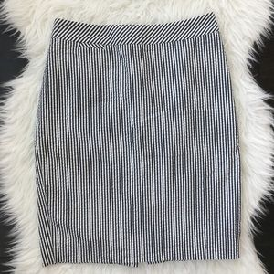 J.Crew | Striped Pencil Skirt